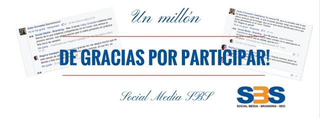 El equipo de Social Media SBS agradece la participación