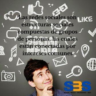 Las redes sociales son estructuras sociales compuestas de grupos de personas