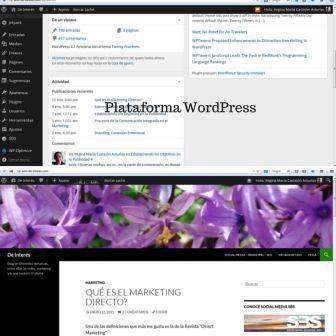 WordPress, es un sistema de gestión de contenido para sitios web