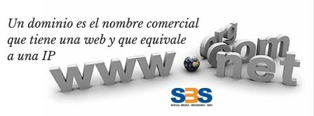 Un dominio es el nombre comercial que tiene una web y que equivale a una IP