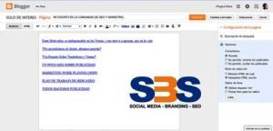 Las páginas en la plataforma de Blogger