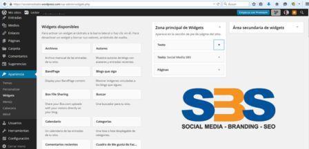 Un Widget es un módulo que se mostrará en nuestro Sitio Web