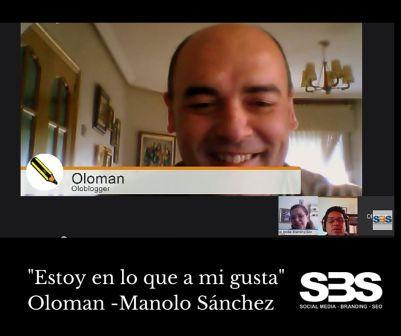 """""""Estoy en lo que a mi gusta"""" Oloman -Manolo Sánchez"""
