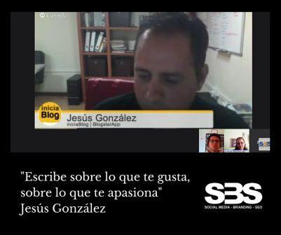 """""""Escribe sobre lo que te gusta, sobre lo que te apasiona"""" Jesús González"""