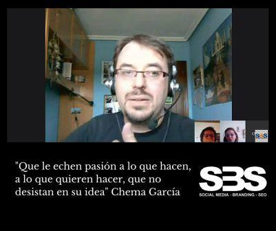 """""""Que le echen pasión a lo que hacen, a lo que quieren hacer, que no desistan en su idea"""" Chema García"""