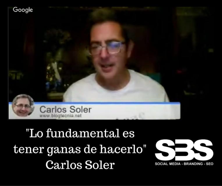 """""""Lo fundamental es tener ganas de hacerlo"""" Carlos Soler"""